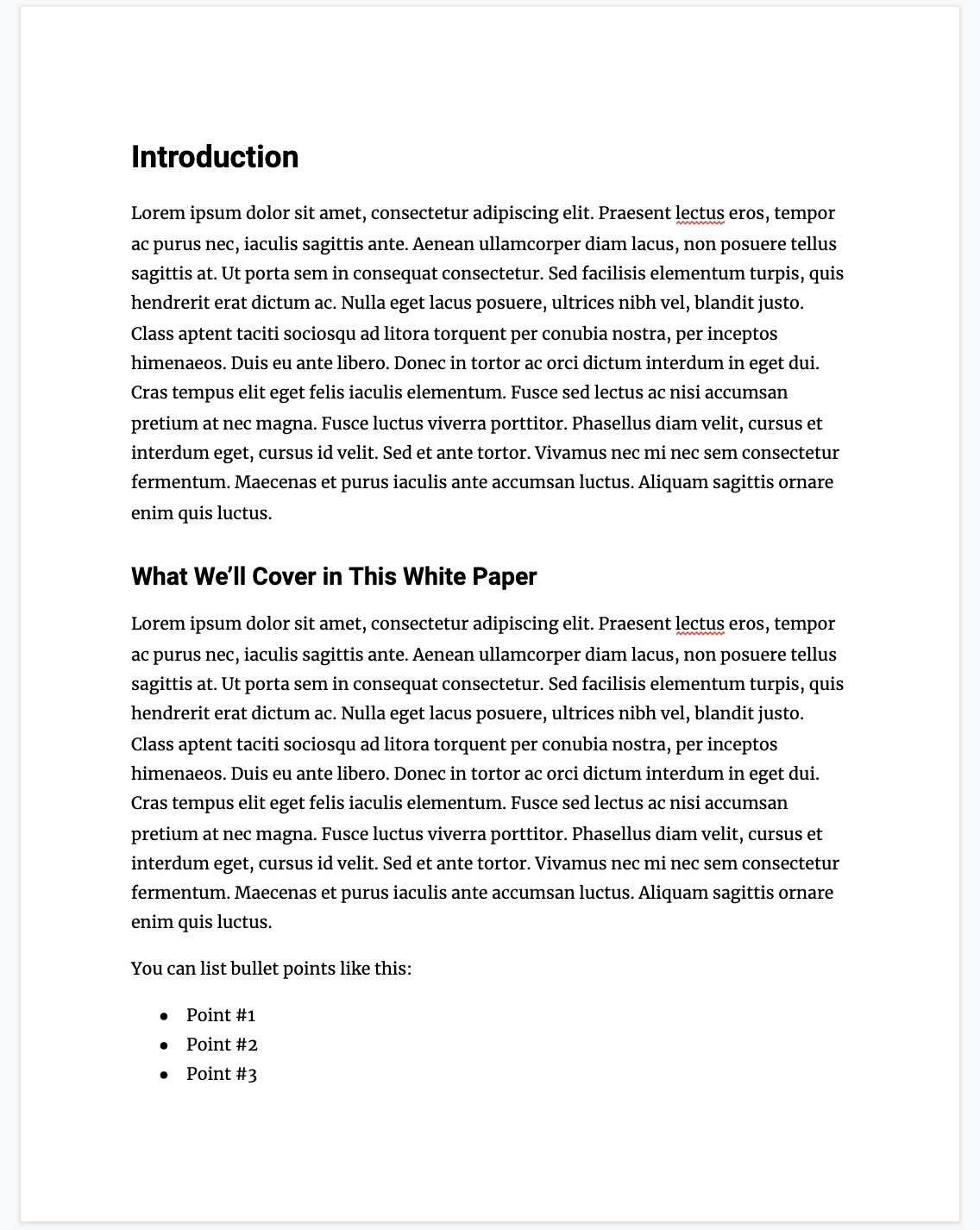 white paper outline template