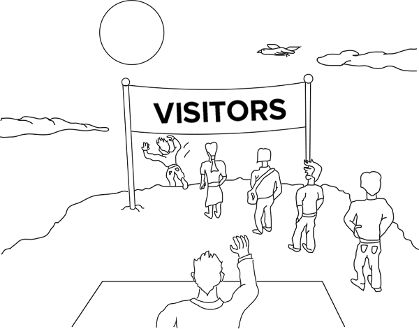 visitors-leaving